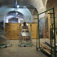 Colectivo Conceptuarte construyendo un Merendero Portátil