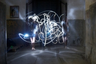 Light graffiti entre varios